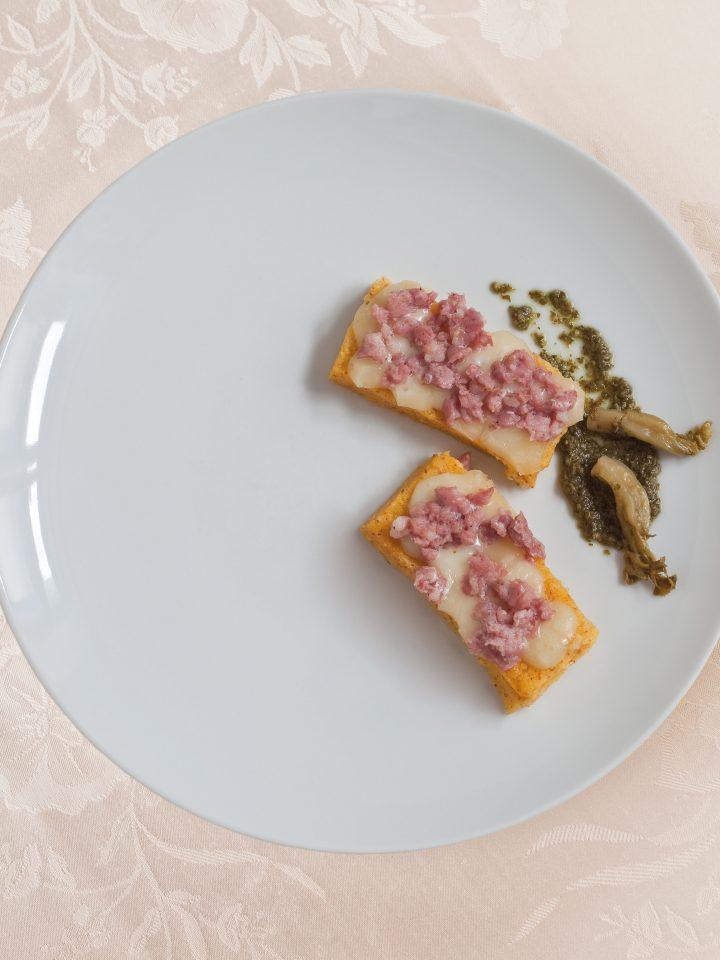 Crostoni di polenta con la Farina Gialla di Storo